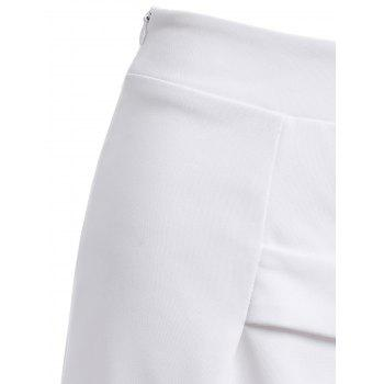 Fashionable High Waist Ornaments Skirt For Women - WHITE L