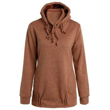 Long Sleeve Solid Color Loose Pullover Hoodie
