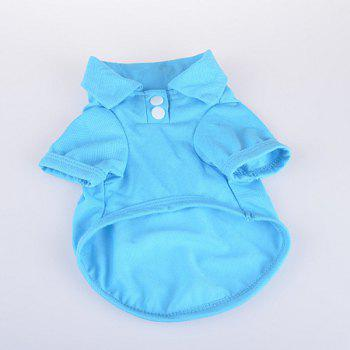 Stylish Solid Color Fastener Design POLO Shirt For Dogs - XL XL