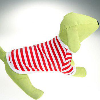 Fashion Round Neck Classic Look Striped Design Soft T-Shirt For Dogs