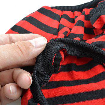 Stylish Striped Design The British Flag Embellished T-Shirt For Dogs - RED/BLACK RED/BLACK