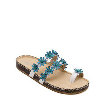 Sweet Flower and Toe Ring Design Slippers For Women