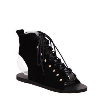Rome Lace-Up and Suede Design Sandals For Women
