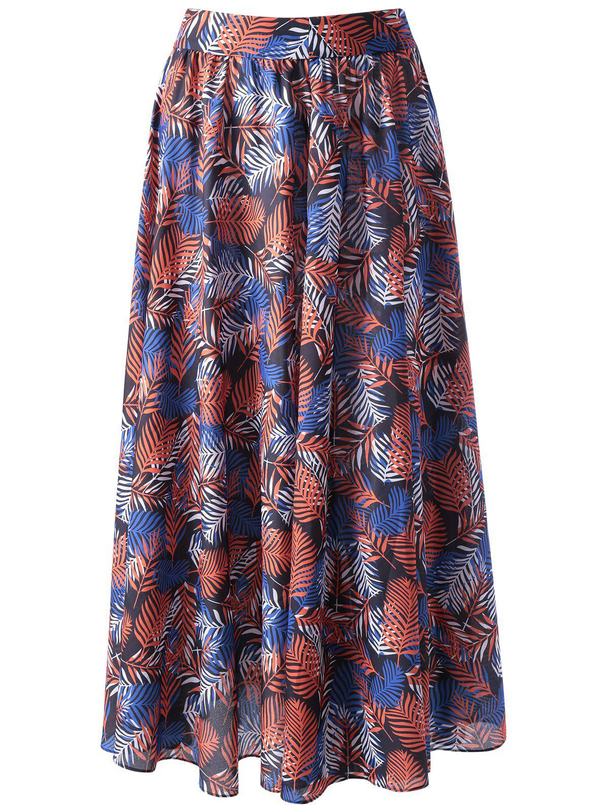 Trendy Ethnic Print Beach Skirt For Women - COLORMIX L