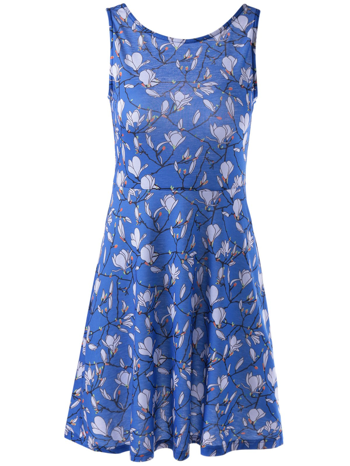 Stylish Printing Vest Dress For Women - COLORMIX XL