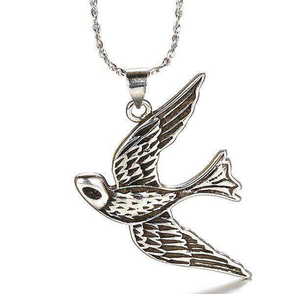 Flyer Bird Shape Necklace - SILVER
