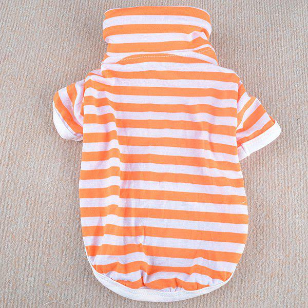 Stylish Striped Design Solid Color Spring POLO Shirt For Dogs - ORANGE XS
