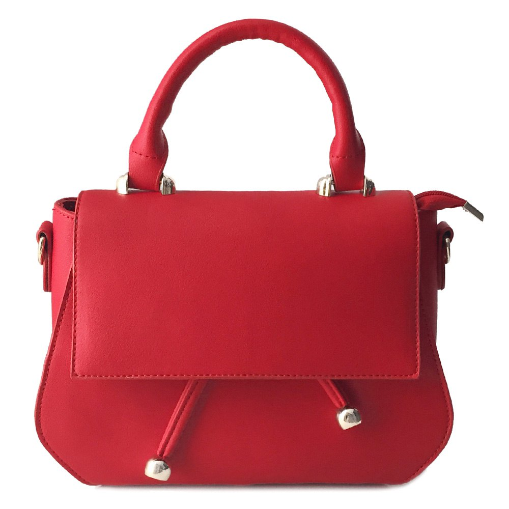 Stylish Magnetic Closure and Solid Color Design Women's Shoulder Bag - RED