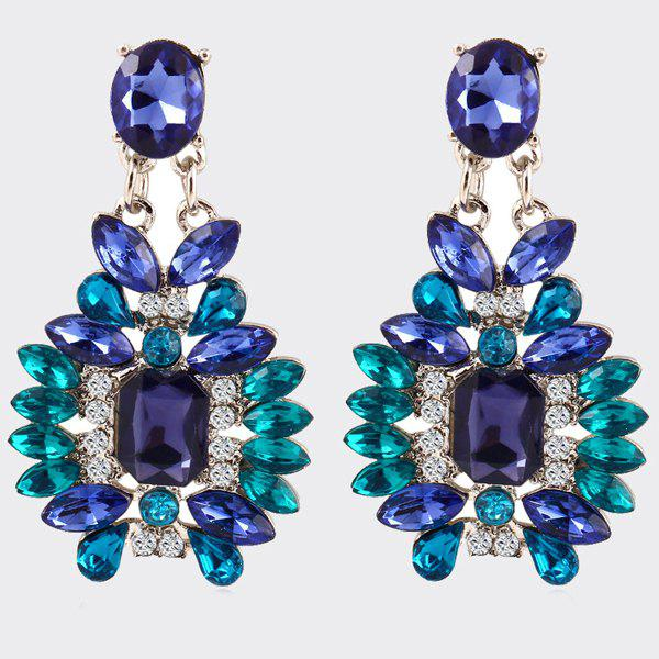 Pair of Noble Faux Crystal Geometric Earrings For Women