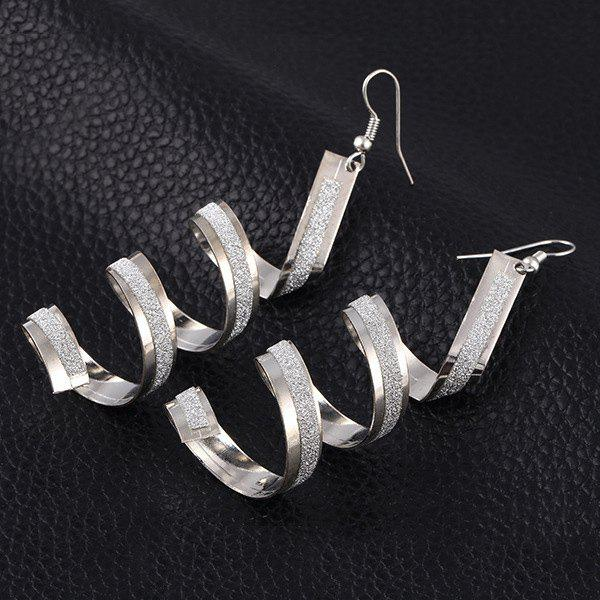 Pair of Vintage Alloy Twisted Round Earrings For Women