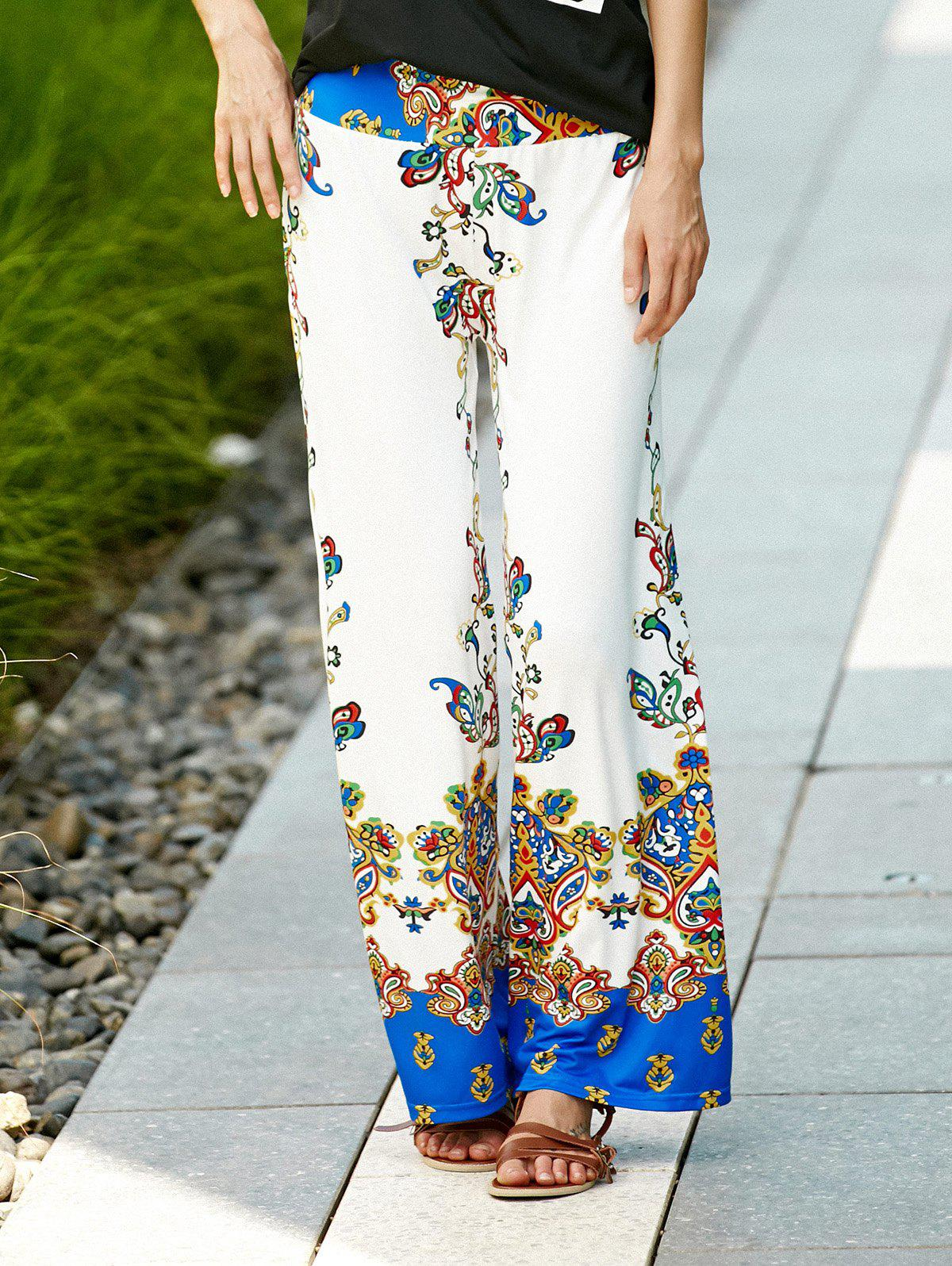 Ethnic Women's Printed Exumas Pants - WHITE L
