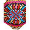 Colorful Ethnic Print One Piece Swimwear For Women - YELLOW S