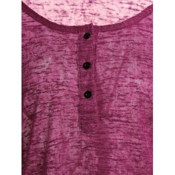 Pullover Long Sleeve Scoop Neck Solid Color Blouse For Women - WINE RED M