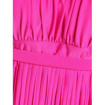 Scoop Neck Sleeveless Fringed Solid Color Women's Swimwear - 4XL 4XL