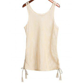 Sleeveless Scoop Collar Cut Out Women's Cover Up - APRICOT ONE SIZE(FIT SIZE XS TO M)
