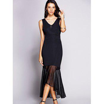 Chic V-Neck Sleeveless Women's Fishtail Backless Dress