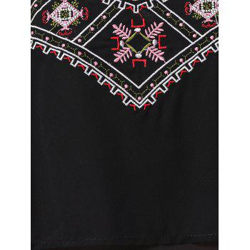 Embroidered Layered Cropped Camisole Top - BLACK 2XL