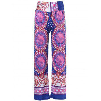 Ethnic Style Mid-Waisted Geometric Print Loose Exumas Pants For Women