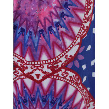 Ethnic Style Mid-Waisted Geometric Print Loose Exumas Pants For Women - COLORMIX L