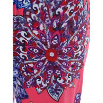 Stylish Mid-Waisted Wide Leg Printed Women's Exumas Pants - COLORMIX M