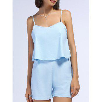Trendy Spaghetti Strap Pure Color Romper For Women