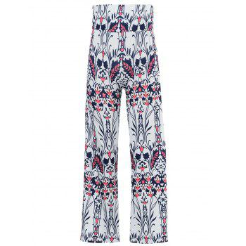 Fashionable Mid-Waisted Loose-Fitting Floral Print Women's Exumas Pants