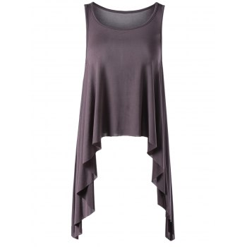 Casual Women's Slimming Scoop Neck Flounce Top