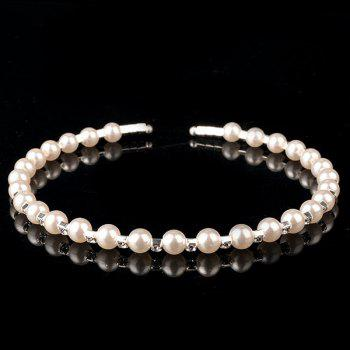 Trendy Rhinestone Faux Pearl Hairband For Women