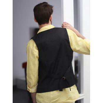 Single Breasted Edging Solid Color V-Neck Sleeveless Men's Waistcoat - XL XL