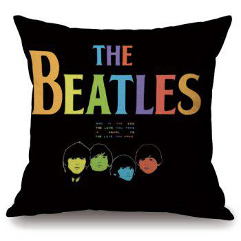 Band Style The Beatles Portrait Letter Design Pillowcase