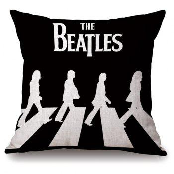 Novelty The Beatles Crossing Road Portrait Linen Pillowcase