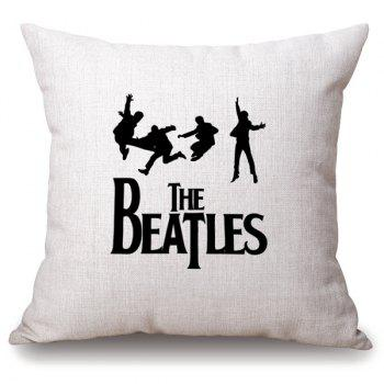 Hot Sale The Beatles Jumping Cucoloris Letter Pattern Pillowcase