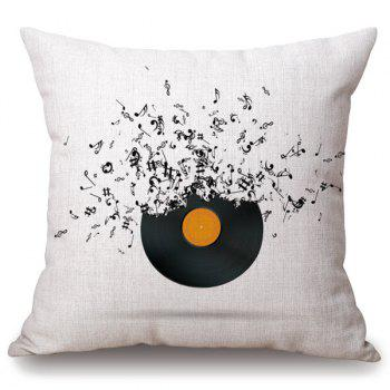 Casual Music Note Disk Design Square Shape Pillowcase