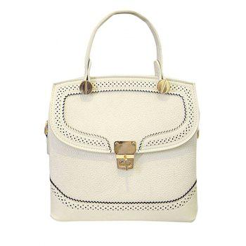 Stylish Engraving and Hasp Design Tote Bag For Women
