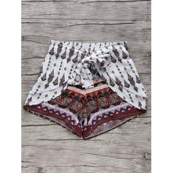 Stylish Wide Leg Ethnic Printed Women's Shorts