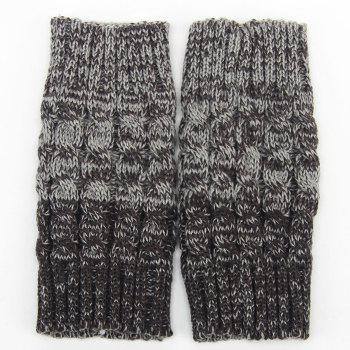 Pair of Chic Crocheted Hemp Flowers Topper Double Sided Women's Knitted Boot Cuffs - GRAY GRAY