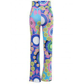 Casual Mid-Waisted Colorful Pantalon ample Exumas pour les femmes - multicolore S