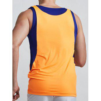 Linellae design col rond Quick-Dry solide Tank Top Hommes Couleur  's - Orange XL