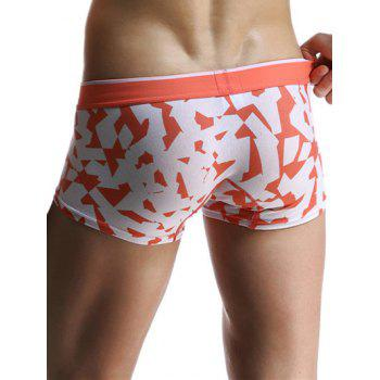 U Pouch Design Geometric and Letters Print Men's Boxer Brief - ORANGE 2XL