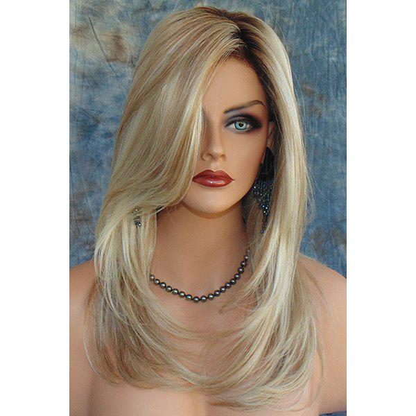 Women's Charming Synthetic Mixed Color Long Fluffy Wig
