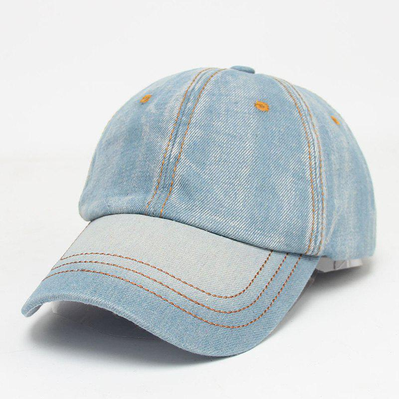 Fashion Outdoor Summer Sunscreen Do Old Jeans Baseball Cap - LIGHT BLUE
