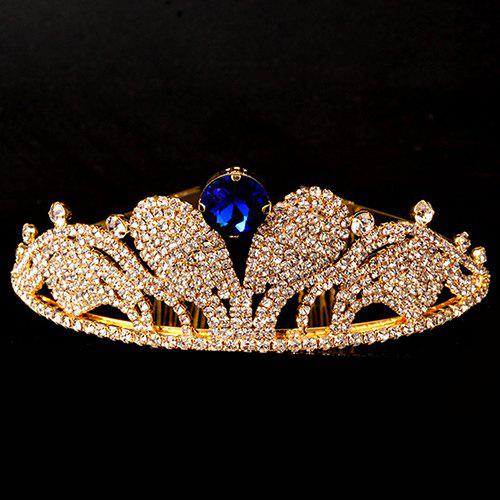 Chic Faux Sapphire Crown For Women - BLUE