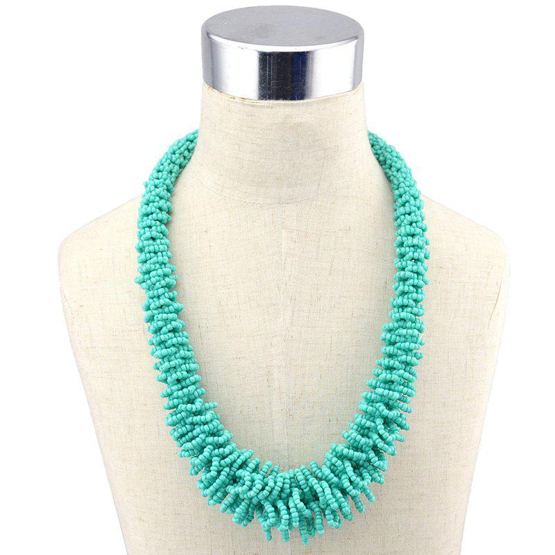 Woven Beads Necklace - GREEN
