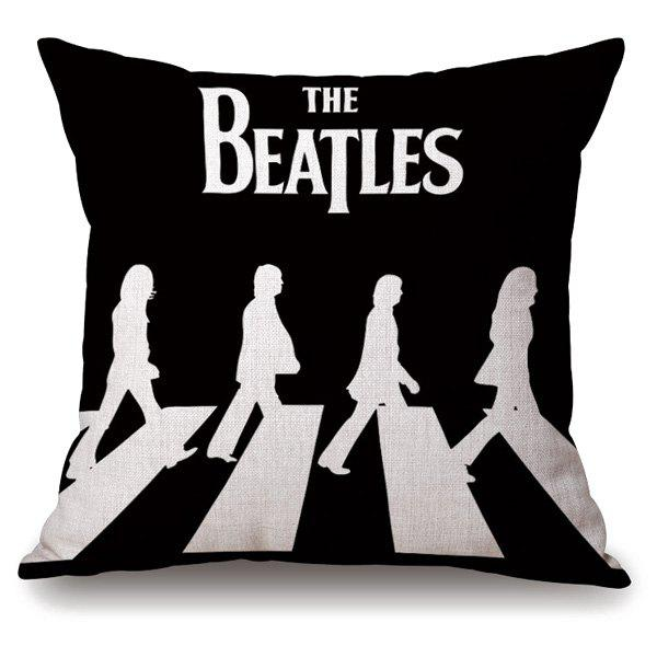 Novelty The Beatles Crossing Road Portrait Linen Pillowcase connelly m the crossing