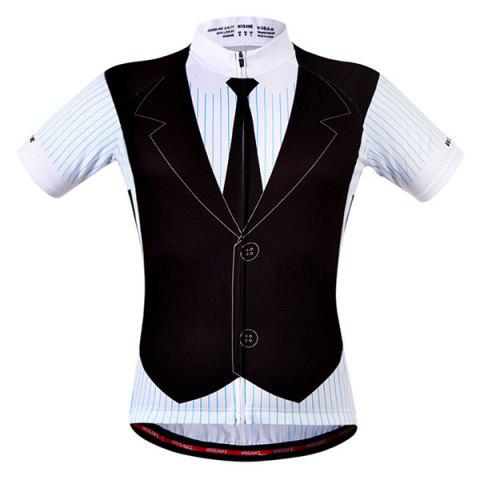 Mode False Waistcoat design manches Cycling Jersey Summer Court - multicolore S