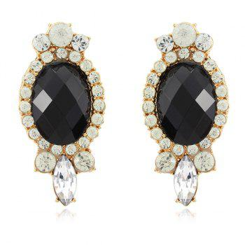 Faux Gem Diamante Earrings