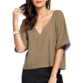 V-Neck Half Sleeve Women's T-Shirt