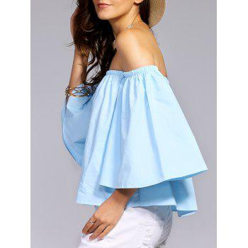 Off-The-Shoulder Flare Sleeve Women's Blouse