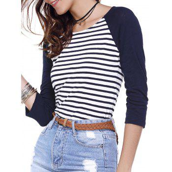 Back Zippered Striped Tee