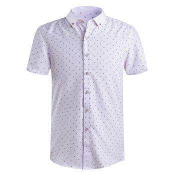 Men's Fashion Printing Button-Down Shirts
